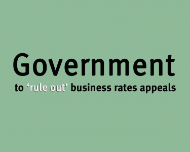 Government to 'rule out' business rates appeals