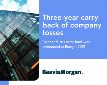 Three-year carry back of company losses