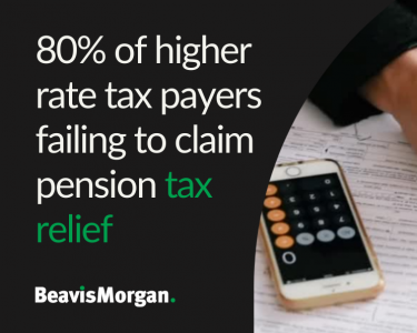 80% of higher rate tax payers failing to claim pension tax relief